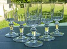 Meisenthal - Service de 6 verres à apéritif en verre, modèle Mirabeau