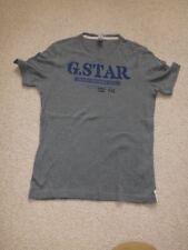 G-Star Raw T Shirt chest-38/40 uk s/m grey mint cond stunning raised logo