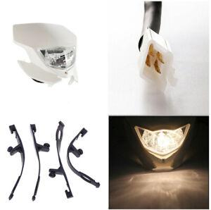 12V 35W Hi/Lo Beam Transparent Lens Motorcycle Dirt Pit Bike White Headlight