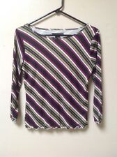 Women's  Apostrophe Striped 3/4 Sleeve Top Size S (6 - 8)