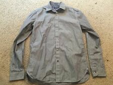 AMERICAN EAGLE OUTFITTERS Slim Fit Blue Striped Button Down Shirt mens Small