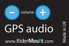 RiderMount GPS audio system to hear car satnav on a motorbike motorcycle