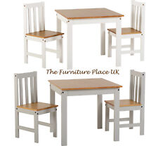 Ludlow 2 Seat Dining Set in White and Oak or Grey and Oak Lacquer