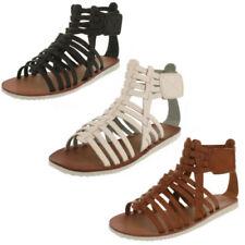 Scarpe da donna casual gladiatori marrone