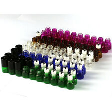 5 - 100 pcs Empty 1ml 2ml Color Glass Roll On Bottles Metal Roller Ball & Opener