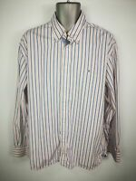 MENS TOMMY HILFIGER STRIPED BUTTON UP LONG SLEEVED CASUAL SHIRT EXTRA LARGE XL