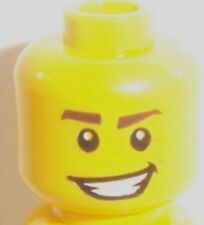 Lego Yellow Male Head x 1 with Crooked Smile for Minifigure