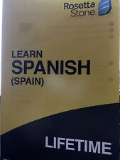 ROSETTA STONE Spanish (SPAIN)  LIFETIME  - NEW - GUARANTEED - DIGITAL DELIVERY