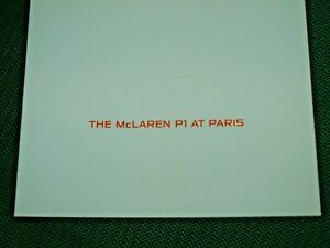McLAREN P1 BROCHURE PROSPEKT MCLAREN P1 AT PARIS MCLAREN CARS