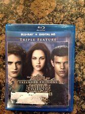 The Twilight Saga: Twilight/New Moon/Eclipse (Blu-ray,2015,3-Disc)Authentic US