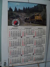 1966 NORTHERN PACIFIC NP Railway CALENDAR 2500HP Disel West of  Missoula MT