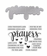 """Hero Arts Stamp & Cuts """"PRAYERS"""" Clear Stamps With Matching Dies Bundle"""