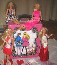 BARBIE Superstar Lot la raccolta 4 Bambole Abbigliamento Valigia teste MATTEL 70er-90er
