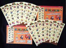 SUPER MARIO Greeting Stamp Sheet x 10 Set Nintendo Limit. Edit. on Sale 6/28/17'