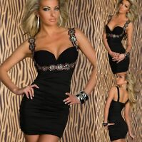 Sz S 8 10 Black Floral Sleeveless Sexy Casual Cocktail Party Slim Fit Mini Dress