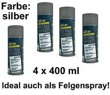 Plasti Dip SPRÜHFOLIE Felgenfolie Flüssiggummi silber metallic EFFEKT 4x 400ml