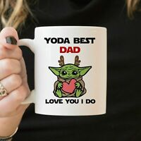 Baby Yoda Christmas Dad Coffee Mug 11oz Funny Dad Xmas Decoration Gift