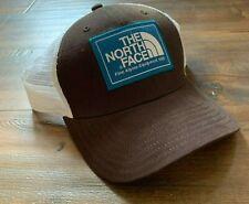 The North Face Men's Mudder Trucker Snapback Hat Cap Brown White Unisex