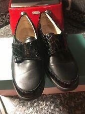 Solidus Black Croc Effect Shoes Size 6