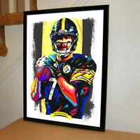 Ben Roethlisberger Steelers QB NFL Football Sports Poster Print Wall Art 18x24