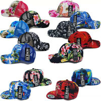 Hawaiian Hat Tropical Trucker Mesh Baseball Women Men Flower Floral Cap Snapback