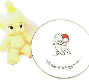 Vintage 1973 Kewpie Doll Collectible Plate Time to Be Happy is Now + FREE Doll