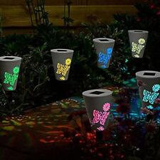 4PCS Butterfly Pattern Solar Powered LED Lamp Stake Light Garden Lawn Fence Path