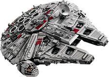 New Sealed CUSTOM Star Wars UCS Millennium Falcon 10179 + Plaque Sticker
