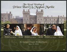 Bequia Gren St Vincent 2018 MNH Prince Harry & Meghan Royal Wedding 3v MS Stamps