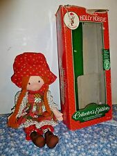 Holiday Holly Hobbie Cloth Doll with Christmas Ornament Mib 1988 Toy red hair