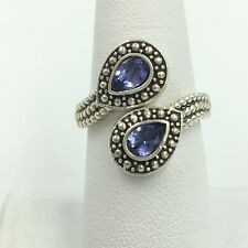 Tanzanite Sterling Silver Ring Size 7