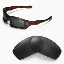 New Walleva Black Replacement Lenses For Oakley Monster Pup Sunglasses