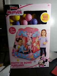 Disney Minnie Mouse Inflatable Playland Ball pit +100 Soft Flex Balls New In Box