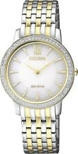CITIZEN EX1484-81A Eco-Drive Ladies Solar Crystal Watch Two-Tone RRP $450.00
