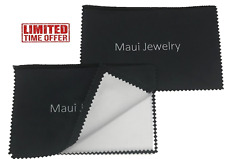 Maui Jewelry Polishing Cloth for Silver,Gold & Platinum (6 by 8 inch), (Pack of