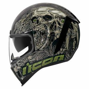 Icon Motorsports Airform Parahuman Motorcycle Full Face Helmet - Black