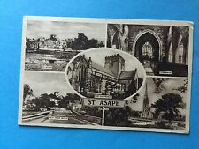 ST.ASAPH.THE NAVE.THE CATHEDRAL.VIEW FROM BRIDGE.MARBLE CHURCH with KG stamp1946