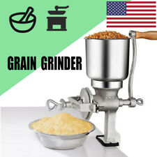 Tall Cast Iron Mill Grinder Hand Crank Manual Grains Corn Wheat Black Coffee Nut