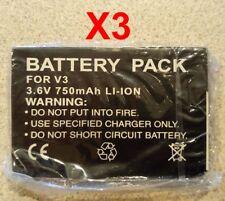 Lot Of 3 Brand New Motorola Razr V3 V3C V3M Generic Battery