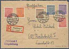 SBZ 66 - 67, 69 - 71 auff E-Brief echt gelaufen Magdeburg - Radebeul (541052)