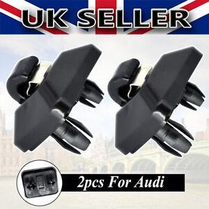 Black Pair Sun Visor Clip Holder Hanger For Audi A3 A4 A5 Q2 Q3 Q5 TT RS3 RS4