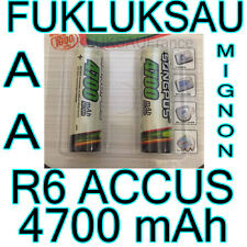 6 x PILES AA | PILES ACCUS RECHARGEABLE MIGNON 4700mAh Ni-MH 1,2V R6 LR06 NEW