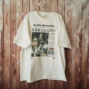Vintage Super Bowl XXX Dallas Cowboys Newspaper  NFL XXL 2x Article shirt