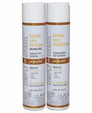 Simply Brasil Post Keratin/Color Treatment Shampoo & Conditioner, 10.14 fl oz