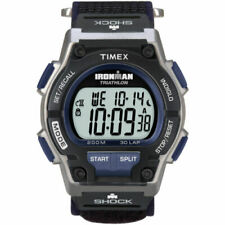 NEW Timex Men's Shock-Resistant Sport Watch 30-Lap Timer Gray/Black T5K198