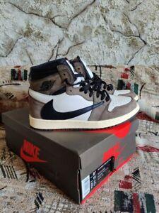 Nike Air Jordan 1 High OG TS SP Size 9.5US Travis Scott  Black-Dark Mocha CD4487