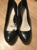 CARVELA KURT GEIGER Black Patent High Heels Party Court Shoes Size 6/39