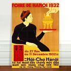 "Stunning Vintage Asian Poster Art ~ CANVAS PRINT 8x12"" ~ HANOI Fair 1932"