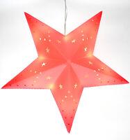 LED-Weihnachtsstern Batteriebetrieb Dekostern Fensterstern Stern rot Ø 30 cm