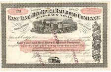 East Line and Red River Railroad Company $100 Stock